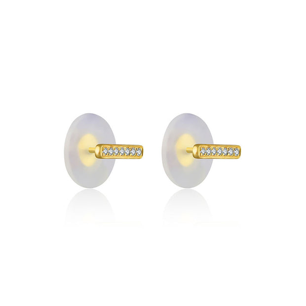 18k Gold Line Shape Diamond Earring - Genevieve Collection