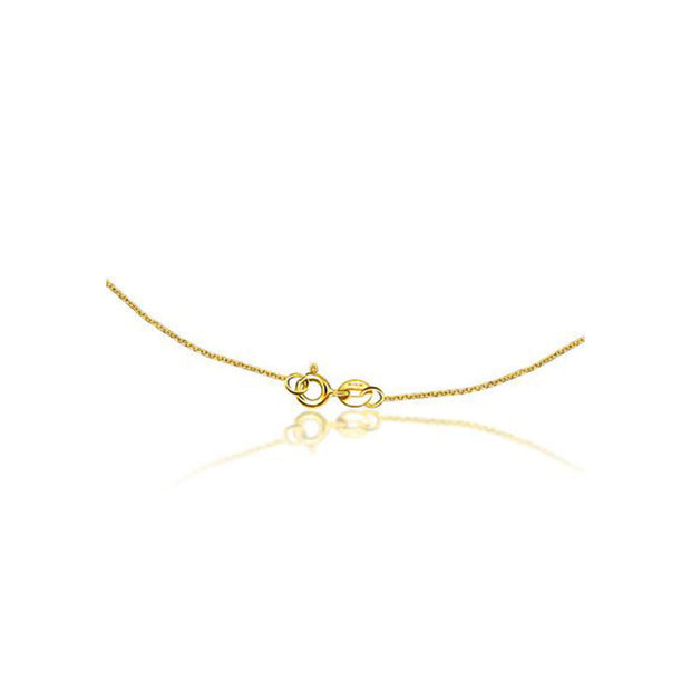 18k Gold Arrow And A Drop Diamond Necklace - Genevieve Collection