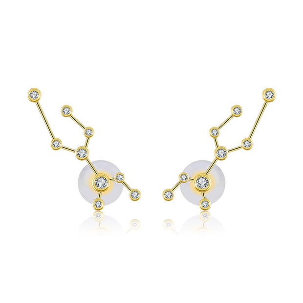 18k Gold Virgo Diamond Earring - Genevieve Collection