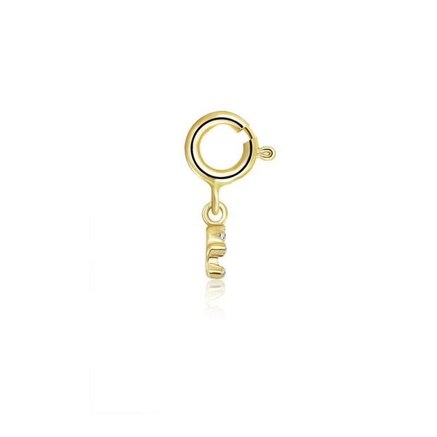 18k Gold Libra Zodiac Sign Diamond Charms - Genevieve Collection