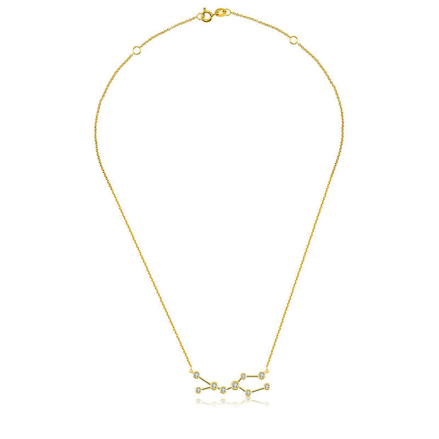18k Gold Gemini Diamond Necklace - Genevieve Collection