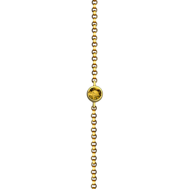 18k Gold November Birthstone Citrine Bracelet - Genevieve Collection
