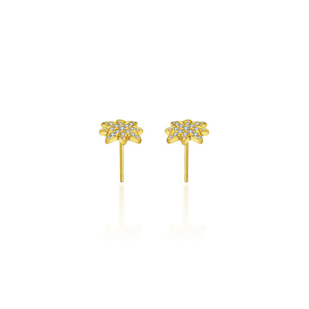 18k Gold Star Diamond Earring - Genevieve Collection