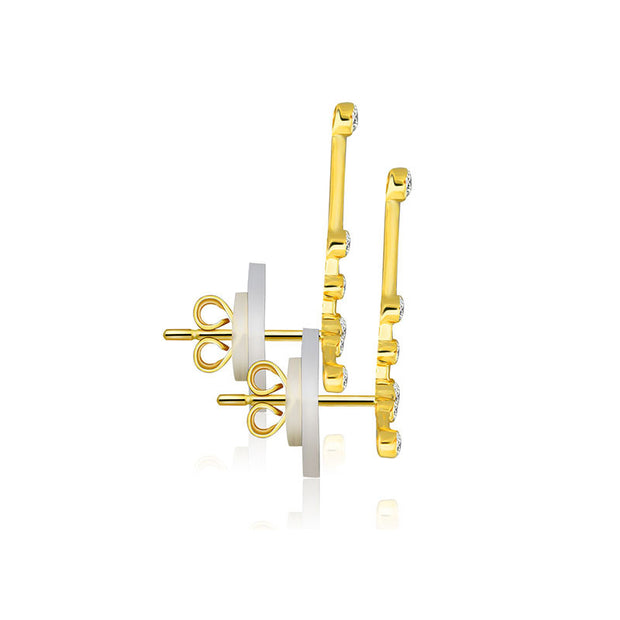 18k Gold Pisces Diamond Earring - Genevieve Collection