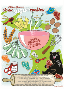 NEW Tea Towel + Mitten Cookie Cutter Gift Set