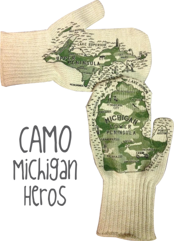 Limited Edition : Camouflage Michigan Mittens