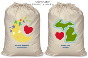 Organic Cotton Baby Laundry/Gift Bag