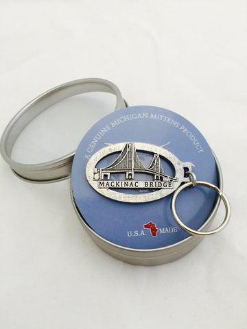 Mackinac Bridge Pewter Key Holder