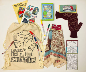 """Livin' In A Mitten"" Kid's Day Pack - Filled with Michigan Fun"