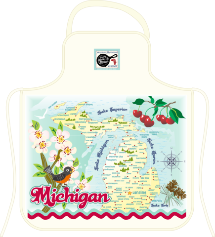 Retro Map Aprons