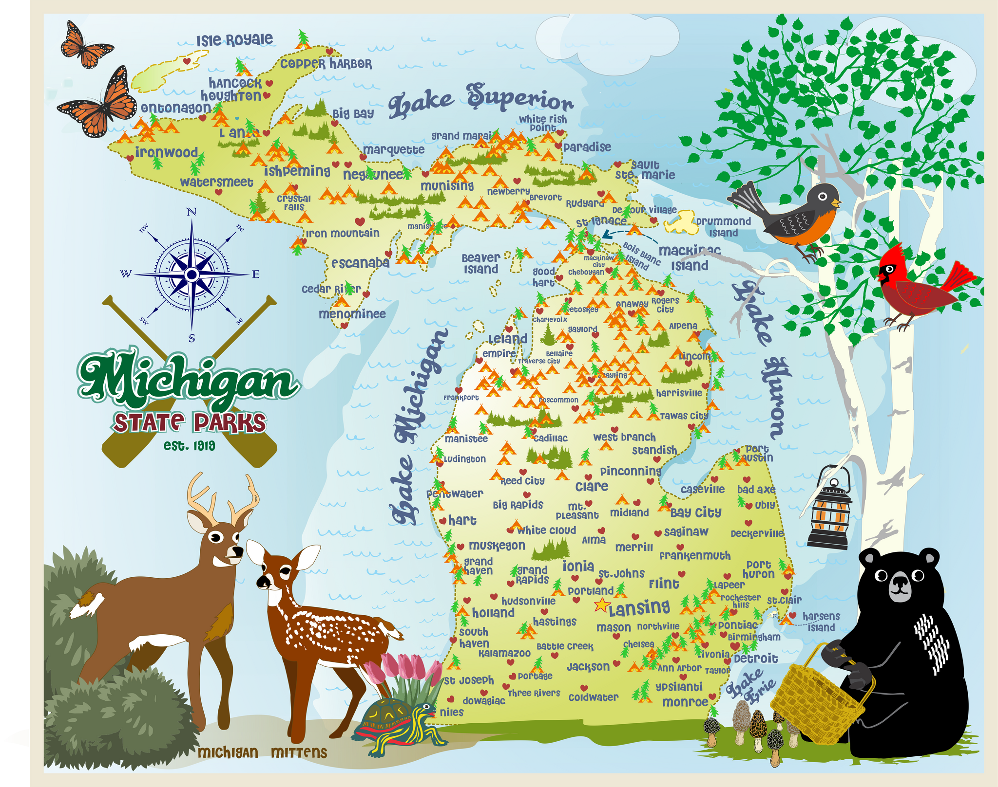 Michigan Placemats