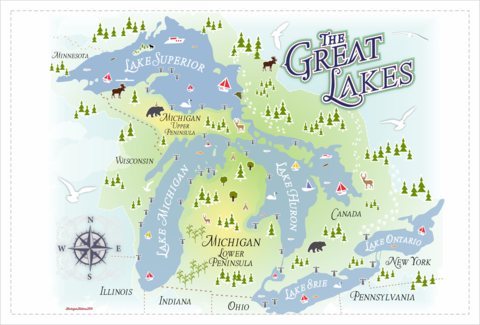 Michigan Tea Towels - Freshly Made in the Mitten