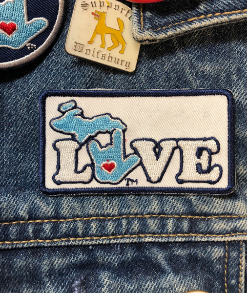 ILY Michigan Embroidery Patches