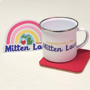 Mitten Love Enamel Mug + Decal