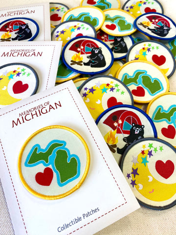 Michigan Embroidery Patch Collection
