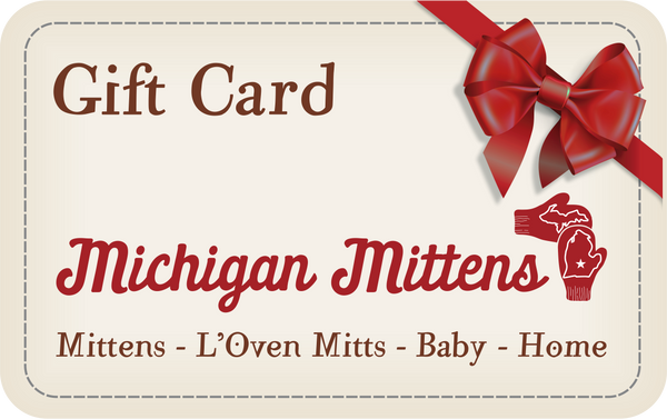 Michigan Mittens Money Gift Card