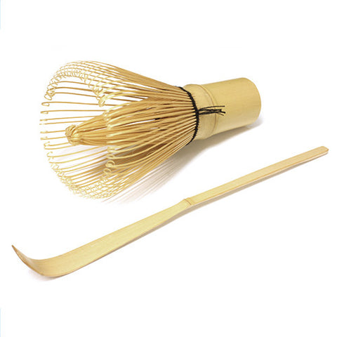 Chasen and Chashaku Set - Bamboo Tea Whisk and Scoop