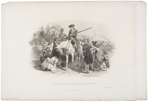 WINCHESTER APPEALING TO WASHINGTON, c. 1850 Print