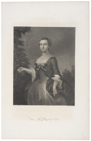 Steel Engraving: Martha Washington by J.C. Buttre