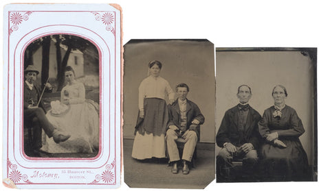 c. 1880s, Lot of 3, Tintypes of Couples