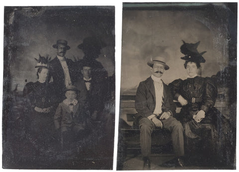 Four Tintypes: Family Portraits