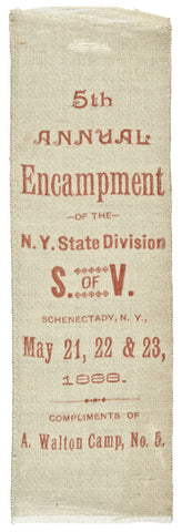 1886-1888, Two G.A.R. Commemorative Silk Ribbons