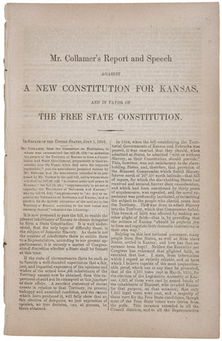 1856 Pamphlet - Kansas Free State Constitution