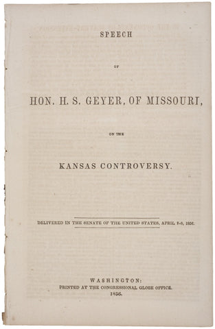 Kansas Controversy:1856, Speech by H. S. Geyer
