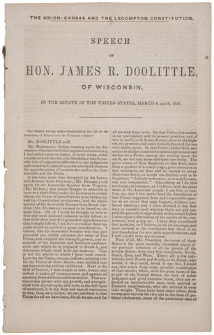 1858 SPEECH: JAMES R. DOOLITTLE