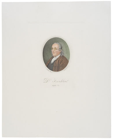 Hand-colored Print of Benjamin Franklin at Age 84
