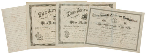 Ohio Documents, Veterans Certificates, 1800s
