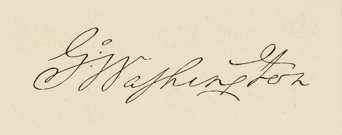Huge Die Proof Impression: Washington Signature, c. 1870