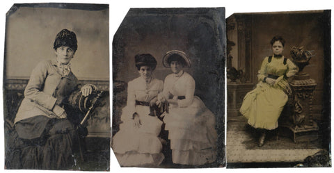 Three Tintypes of Women