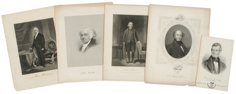 Collection of Presidential Prints, 1850s