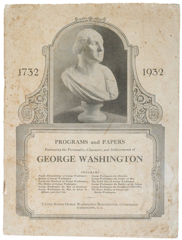 Items for the Bicentennial of Washingtons Birth