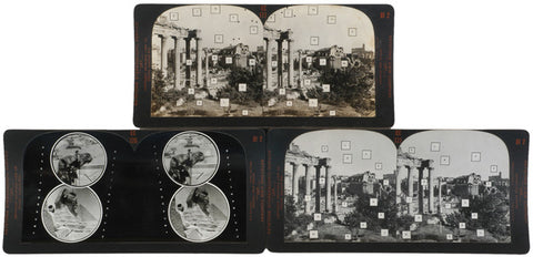 Keystone Stereocards: Roman Forum Ruins + Sphinx