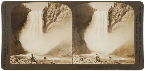 1904 Stereocard: Lower Falls, Yellowstone