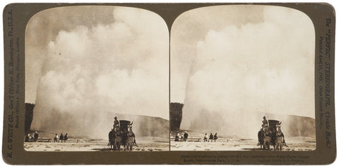 1904 Stereocard: Old Faithful Yellowstone Park