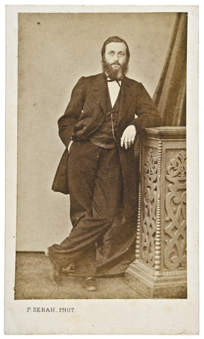 Carte de Visite Photograph of Unknown Man, by Pascal Sebah, Constantinople