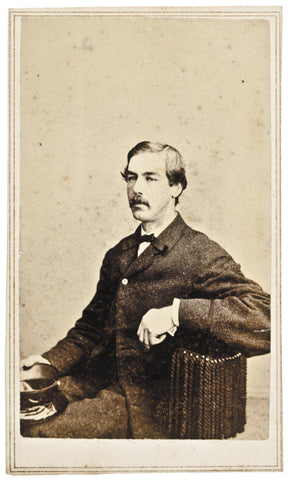 1860s Carte De Visite Photograph Unknown Man
