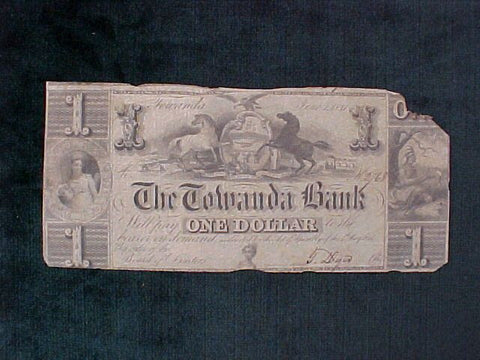 The Towanda Bank, ONE DOLLAR, June 1, 1841, #1140 Obsolete Currency