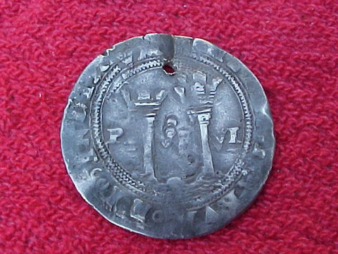 Spanish New World Mid 1500's, Silver 1 Reale, MEXICO, L, Carlos-Juana, #1176 Colonial Coins