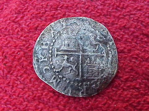 New World Spanish Colonial LIMA, Silver 1/2 REALE COB, Diego de la Torre, P, #1177 Colonial Coins