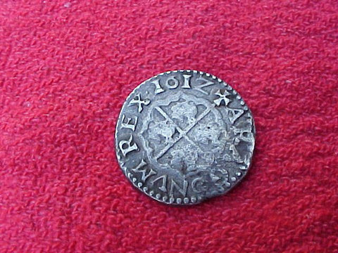 Spanish 1612, Silver 1 Reale, ZARAGOZA, PHILIP III, #1189 Colonial Coins