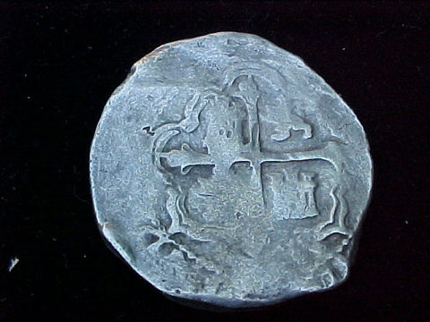 Spanish New World Silver 8 Reales COB, MEXICO, P, PHILIP IV, #1196 From The Shipwreck CONCEPCION 1641