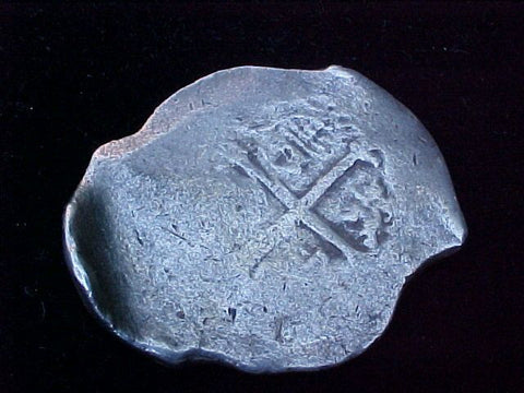 Spanish New World Silver 8 Reales COB, MEXICO, D, PHILIP IV , #1200 From The Shipwreck CONCEPCION 1641