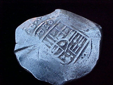 Spanish New World Dated 1649 Silver 8 Reales COB, MEXICO, P, PHILIP IV, #1201 Colonial Coins