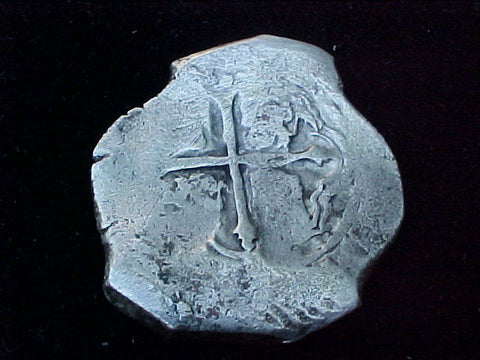 Spanish New World Silver 8 Reales COB, MEXICO, PHILIP IV , #1206 From The Shipwreck CONCEPCION 1641