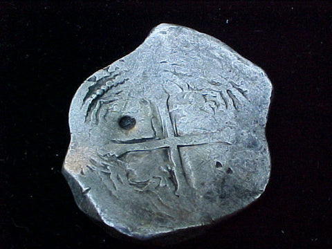 Spanish New World Silver 8 Reales COB, MEXICO, PHILIP IV, #1209 From The Shipwreck CONCEPCION 1641