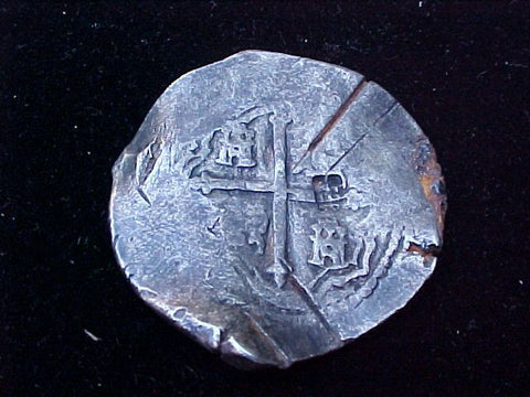 Spanish New World Silver 8 Reales COB, MEXICO, P, PHILIP IV, #1211 From The Shipwreck CONCEPCION 1641